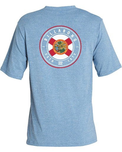 3 Boys' Destination Lf Short Sleeve Rahsguard Blue BR02NBDS Billabong