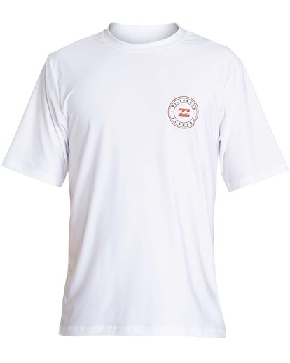 0 Boys' Destination Lf Short Sleeve Rahsguard White BR02NBDS Billabong