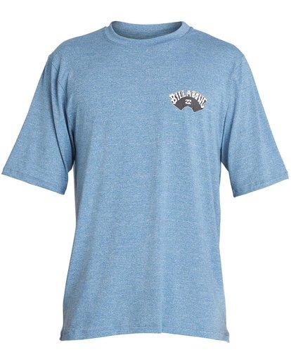 0 Boys' Dicer Loose Fit Short Sleeve Rashguard Blue BR03NBDI Billabong