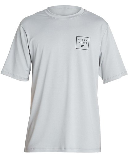 0 Boys' All Day Mesh Lf Short Sleeve Rashguard Grey BR04NBML Billabong