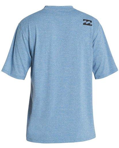 1 Boys' All Day Wave Loose Fit Short Sleeve Rashguard Blue BR07NBWL Billabong