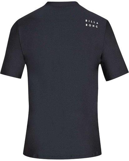 1 Boys' All Day Wave Loose Fit Short Sleeve Rashguard Black BR07TBWL Billabong