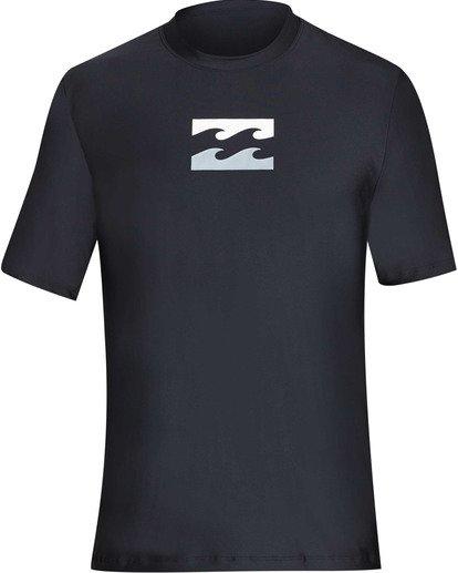 0 Boys' All Day Wave Loose Fit Short Sleeve Rashguard Black BR07TBWL Billabong