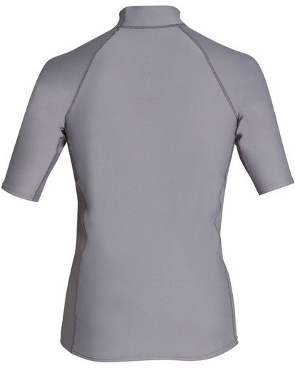 1 Boys' Rotor Performance Fit Short Sleeve Rashguard Grey BR10TBRO Billabong