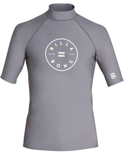 0 Boys' Rotor Performance Fit Short Sleeve Rashguard Blue BR10TBRO Billabong