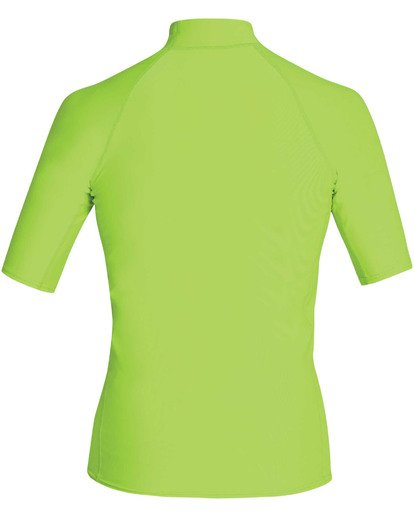 1 Boys' Union Performance Fit Short Sleeve Rashguard Green BR11TBUN Billabong