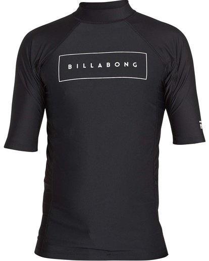 0 Boys' All Day United Performance Fit Short Sleeve Rashguard Black BR12NBAU Billabong