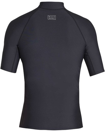 1 Boys' All Day Wave Performance Fit Short Sleeve Rashguard Black BR12TBAL Billabong