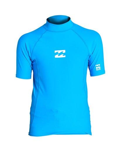 0 Boys' All Day Wave Performance Fit Short Sleeve Blue BR12VBAL Billabong
