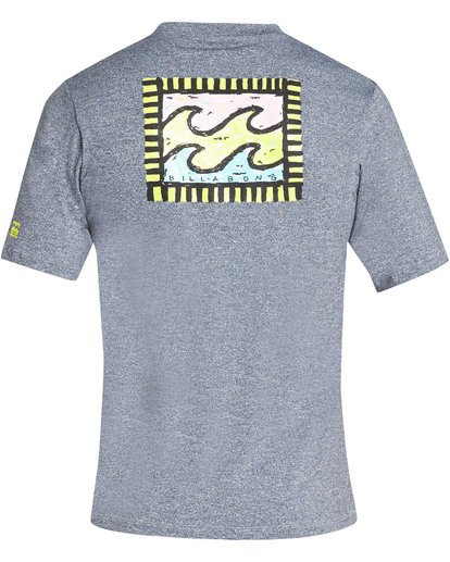 1 Boys' Nairobi Loose Fit Short Sleeve Rashguard Grey BR24TBNA Billabong