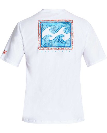1 Boys' Nairobi Loose Fit Short Sleeve Rashguard White BR24TBNA Billabong
