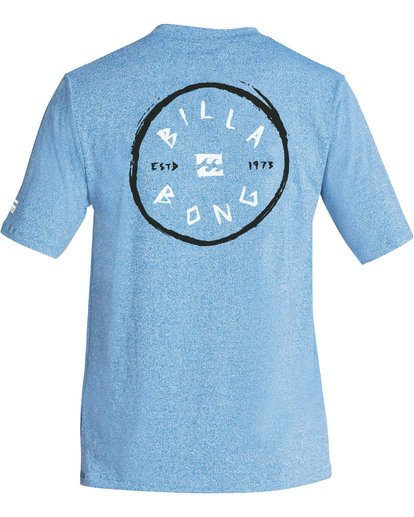 1 Boys' Rotohand Loose Fit Short Sleeve Rashguard Blue BR24TBRH Billabong