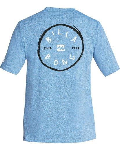 1 Boys' Rotohand Loose Fit Short Sleeve Rashguard Blue BR24TBRH Billabong