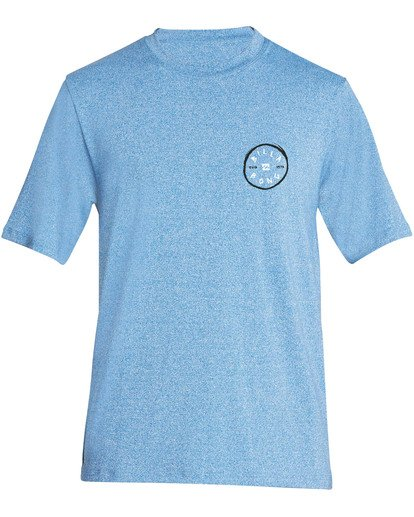 0 Boys' Rotohand Loose Fit Short Sleeve Rashguard Blue BR24TBRH Billabong