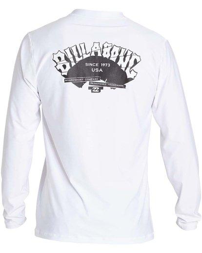 1 Boys' Dicer Ls Short Sleeve Rashguard White BR51NBDI Billabong