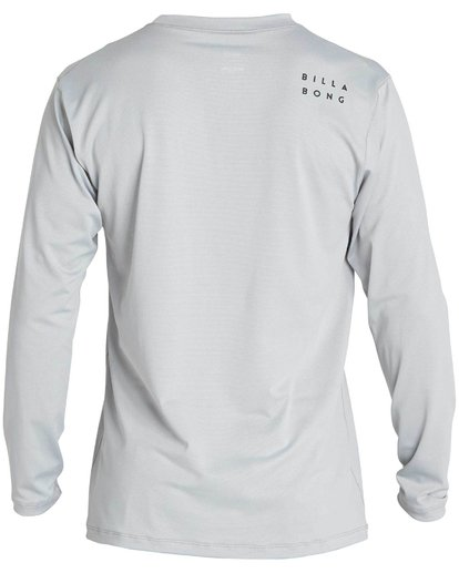1 Boys' All Day Mesh Lf Ls Rashguard Grey BR53NBAM Billabong