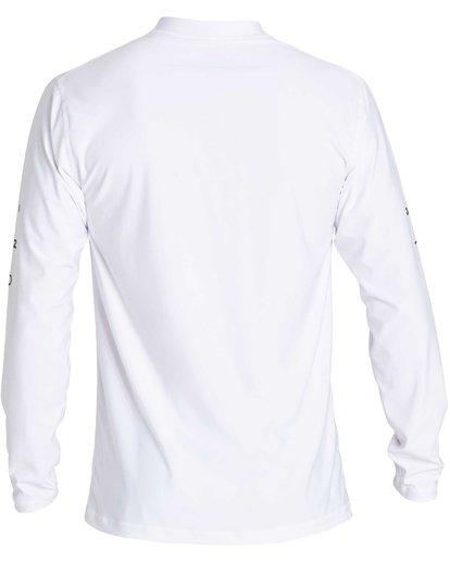 1 Boys' Unity Loose Fit Long Sleeve Rashguard White BR55NBUL Billabong