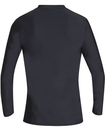 1 Boys' Unity Loose Fit Long Sleeve Rashguard Black BR55TBUL Billabong