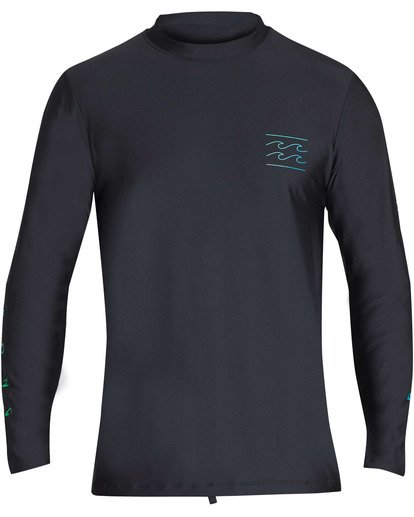 0 Boys' Unity Loose Fit Long Sleeve Rashguard Black BR55TBUL Billabong