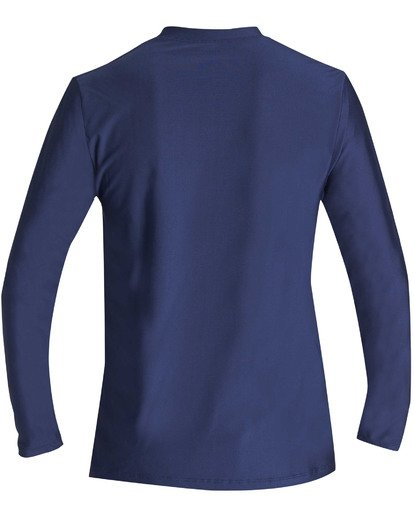 1 Boys' Unity Loose Fit Long Sleeve Rashguard Blue BR55TBUL Billabong