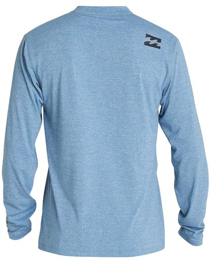 1 Boys' All Day Wave Loose Fit Long Sleeve Rashguard Blue BR57NBWL Billabong