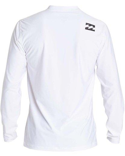 1 Boys' All Day Wave Loose Fit Long Sleeve Rashguard White BR57NBWL Billabong