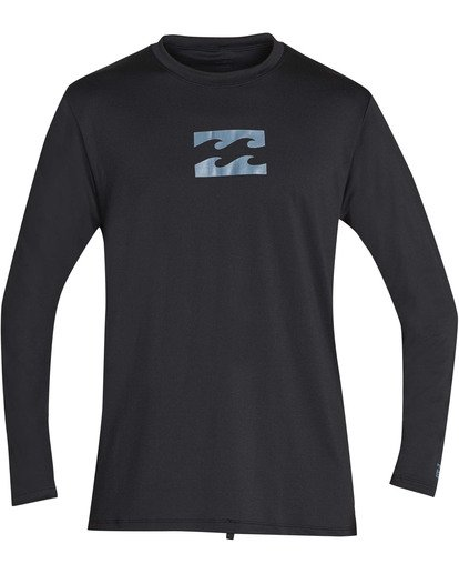 0 Boys' All Day Mesh Loose Fit Long Sleeve Long Sleeve Rashguard Black BR59TBAM Billabong