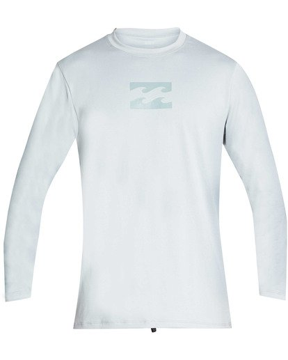0 Boys' All Day Mesh Loose Fit Long Sleeve Long Sleeve Rashguard Blue BR59TBAM Billabong