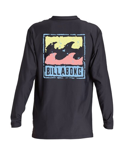 1 Boys' Psychowave Loose Fit Long Sleeve Black BR59VBPS Billabong
