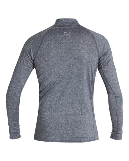 1 Boys' All Day Wave Performance Fit Long Sleeve Rashguard Grey BR601BAL Billabong