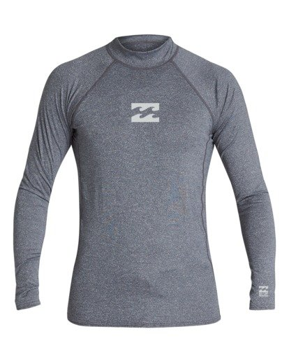 0 Boys' All Day Wave Performance Fit Long Sleeve Rashguard Grey BR601BAL Billabong