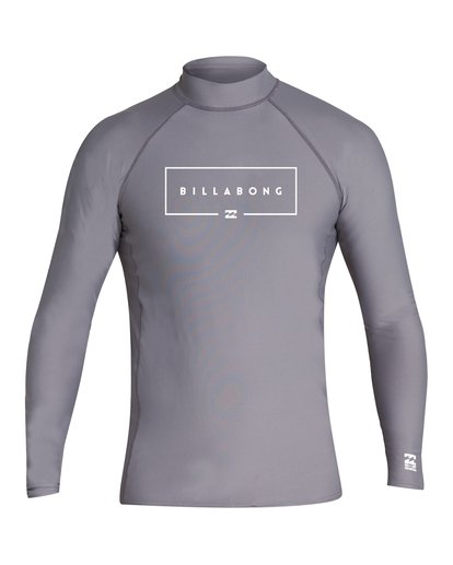 0 Boys' Union Performance Fit Long Sleeve Grey BR60VBUN Billabong