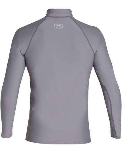 1 Boys' All Day Wave Performance Fit Long Sleeve Long Sleeve Rashguard Grey BR61TBAL Billabong