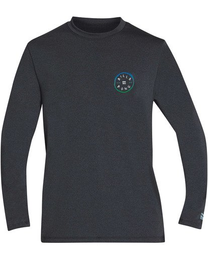 0 Boys' Rotohand Loose Fit Long Sleeve Rashguard Grey BR61TBRO Billabong