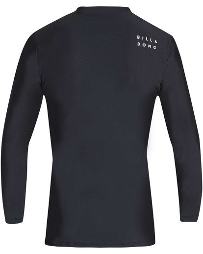 1 Boys' All Day Wave Loose Fit Long Sleeve Rashguard Black BR61TBWL Billabong