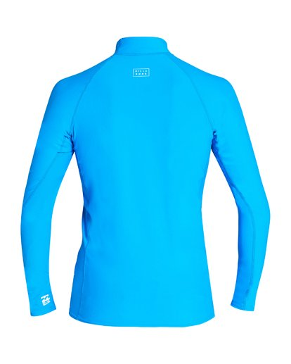 1 Boys' All Day Wave Performance Fit Long Sleeve Rashguard Blue BR61VBAL Billabong
