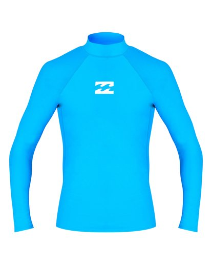 0 Boys' All Day Wave Performance Fit Long Sleeve Rashguard Blue BR61VBAL Billabong