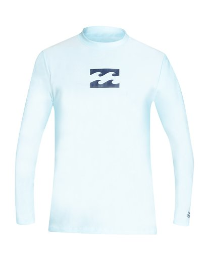 0 Boys' All Day Wave Loose Fit Long Sleeve Rashguard Blue BR61VBWL Billabong