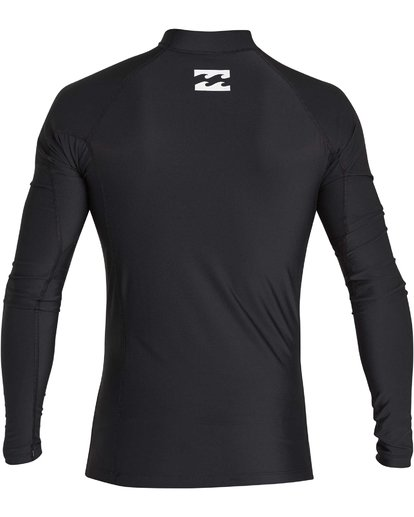 1 Boys' All Day United Performance Fit Long Sleeve Rashguard Black BR64NBAU Billabong