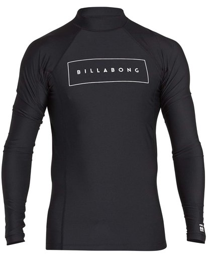 0 Boys' All Day United Performance Fit Long Sleeve Rashguard Black BR64NBAU Billabong
