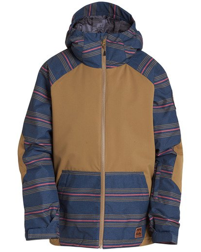 0 Boys' All Day Outerwear Jacket Brown BSNJQADI Billabong
