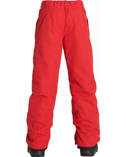 2 Boys' Grom Snow Pants Red BSNPLGRM Billabong