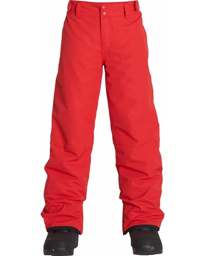 0 Boys' Grom Snow Pants Red BSNPLGRM Billabong