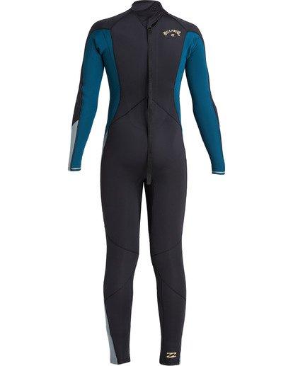 4 Boys' 3/2 Absolute Back Zip Wetsuit Black BWFU3BA3 Billabong