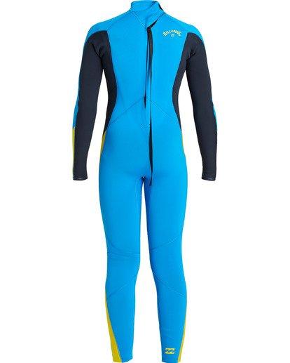 4 Boys' 3/2 Absolute Back Zip Wetsuit Blue BWFU3BA3 Billabong