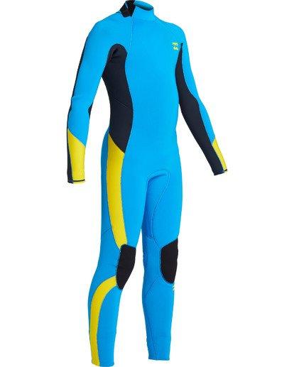 2 Boys' 3/2 Absolute Back Zip Wetsuit Blue BWFU3BA3 Billabong
