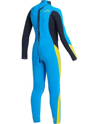 3 Boys' 3/2 Absolute Back Zip Wetsuit Blue BWFU3BA3 Billabong