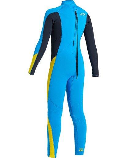 5 Boys' 3/2 Absolute Back Zip Wetsuit Blue BWFU3BA3 Billabong