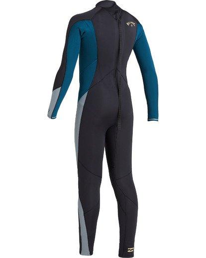 5 Boys' 4/3 Absolute Back Zip Wetsuit Black BWFU3BA4 Billabong