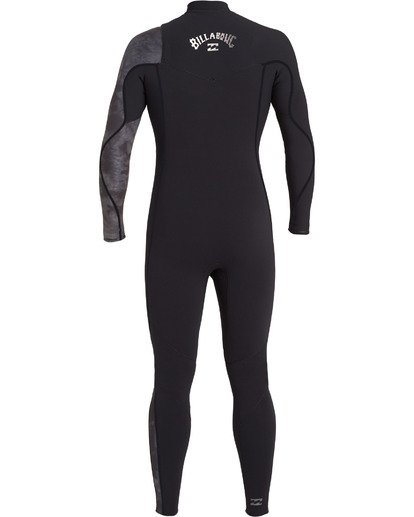 4 Boys' 4/3 Furnace Comp Chest Zip Wetsuit Black BWFU3BF4 Billabong